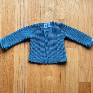 Petit Bateau Baby button front cardigan 12m